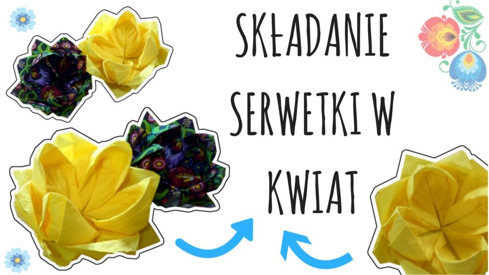 Qrkoko.pl - Jak złożyć serwetkę w kwiat?