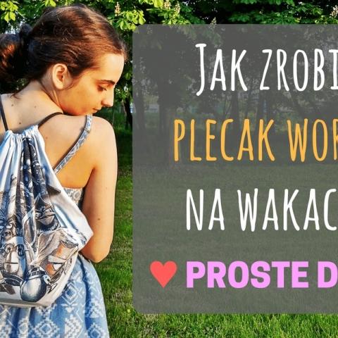 Qrkoko.pl - Plecak worek - jak uszyć go bez wykroju?